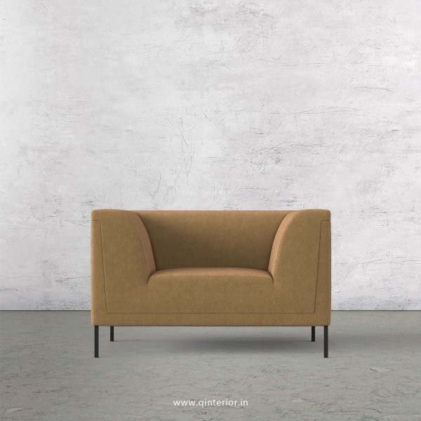 LUXURA 1 Seater Sofa in Velvet Fabric - SFA017 VL09