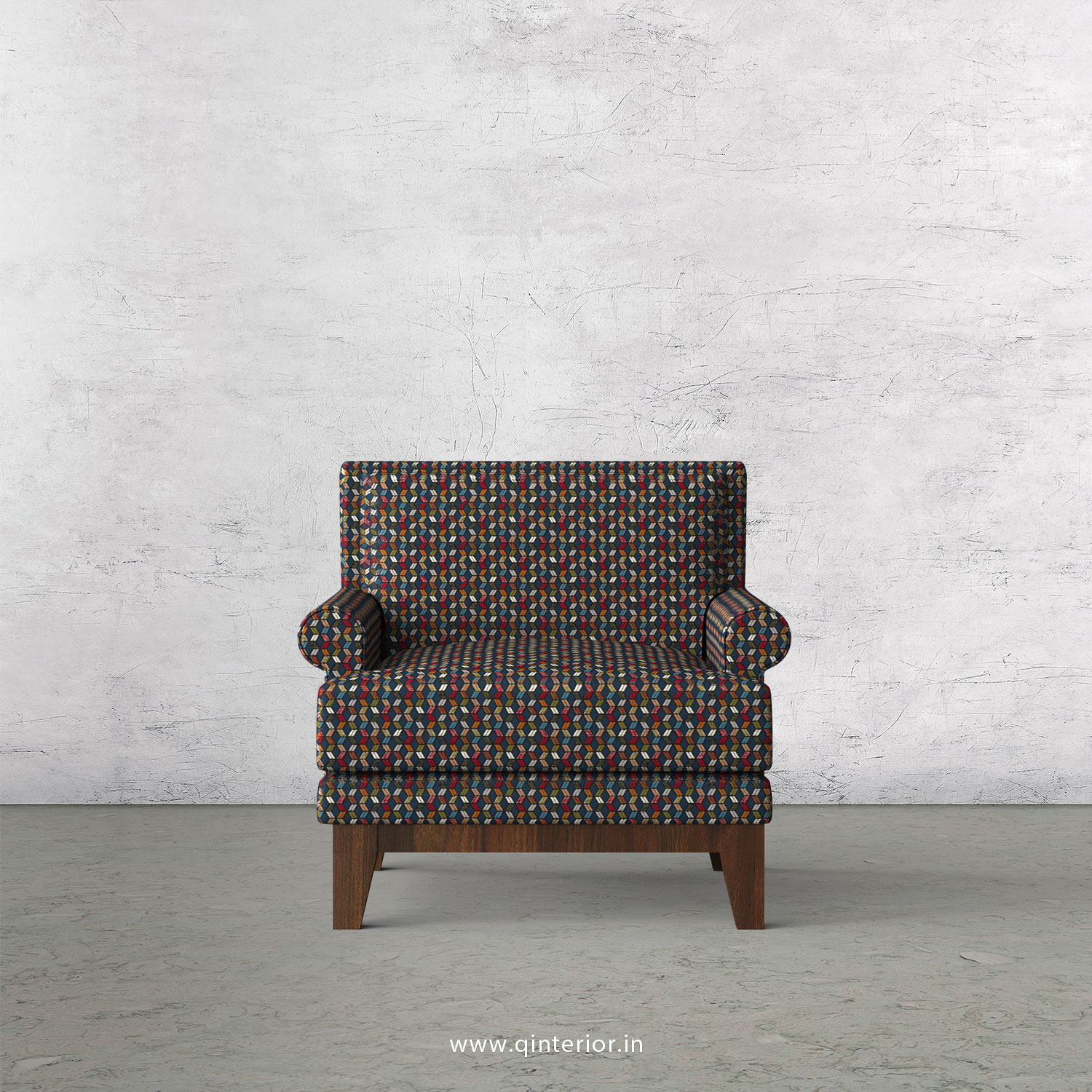 Aviana 1 Seater Sofa in Bargello Fabric - SFA001 BG04
