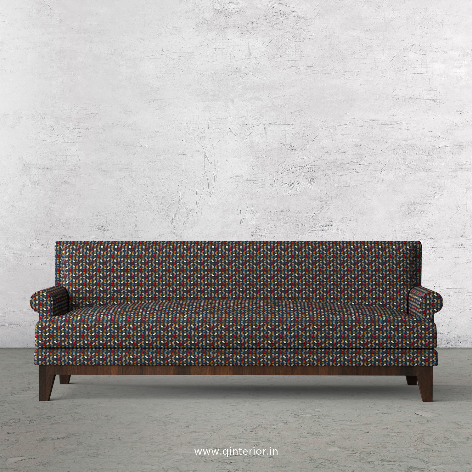 Aviana 3 Seater Sofa in Bargello Fabric - SFA001 BG04