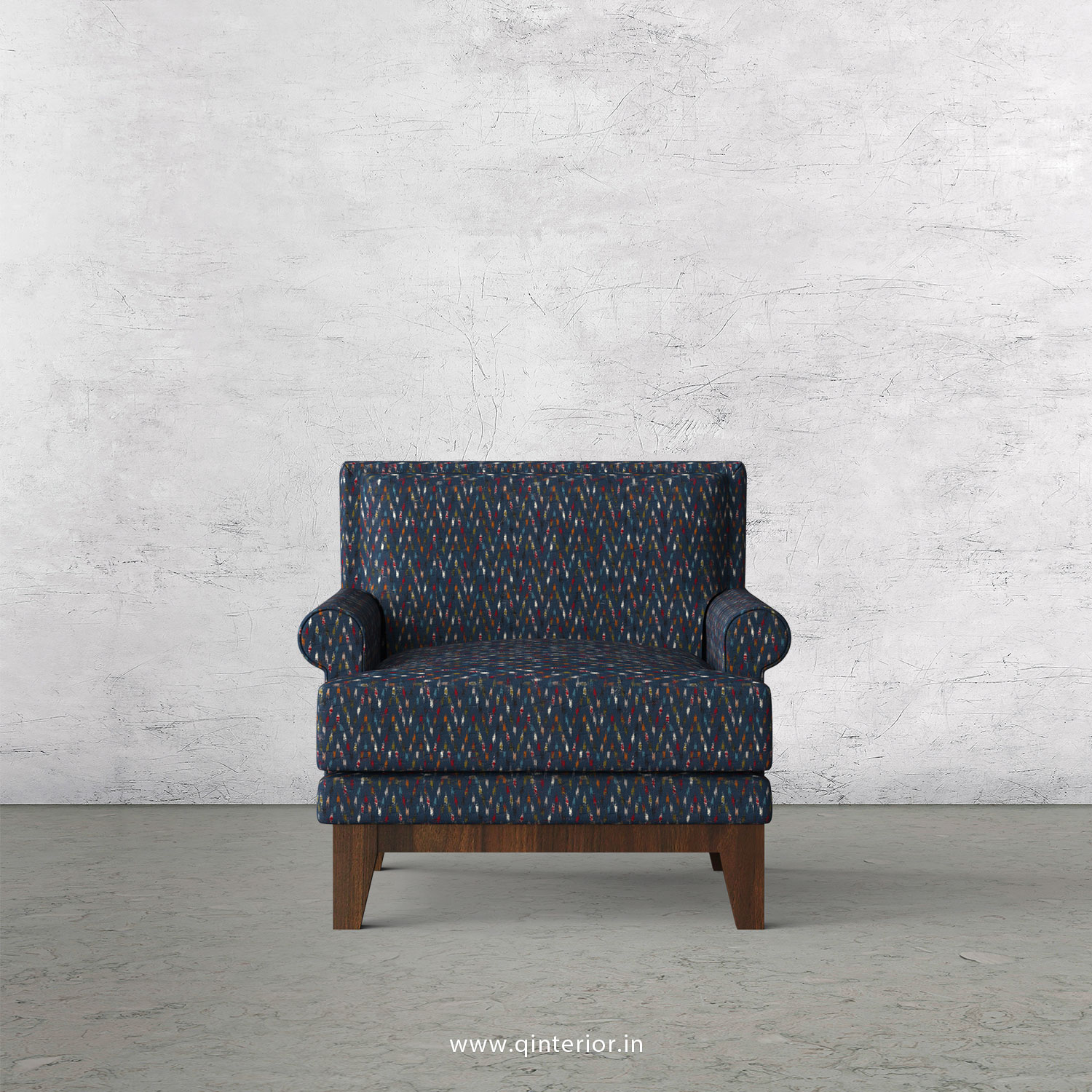 Aviana 1 Seater Sofa in Bargello Fabric - SFA001 BG05