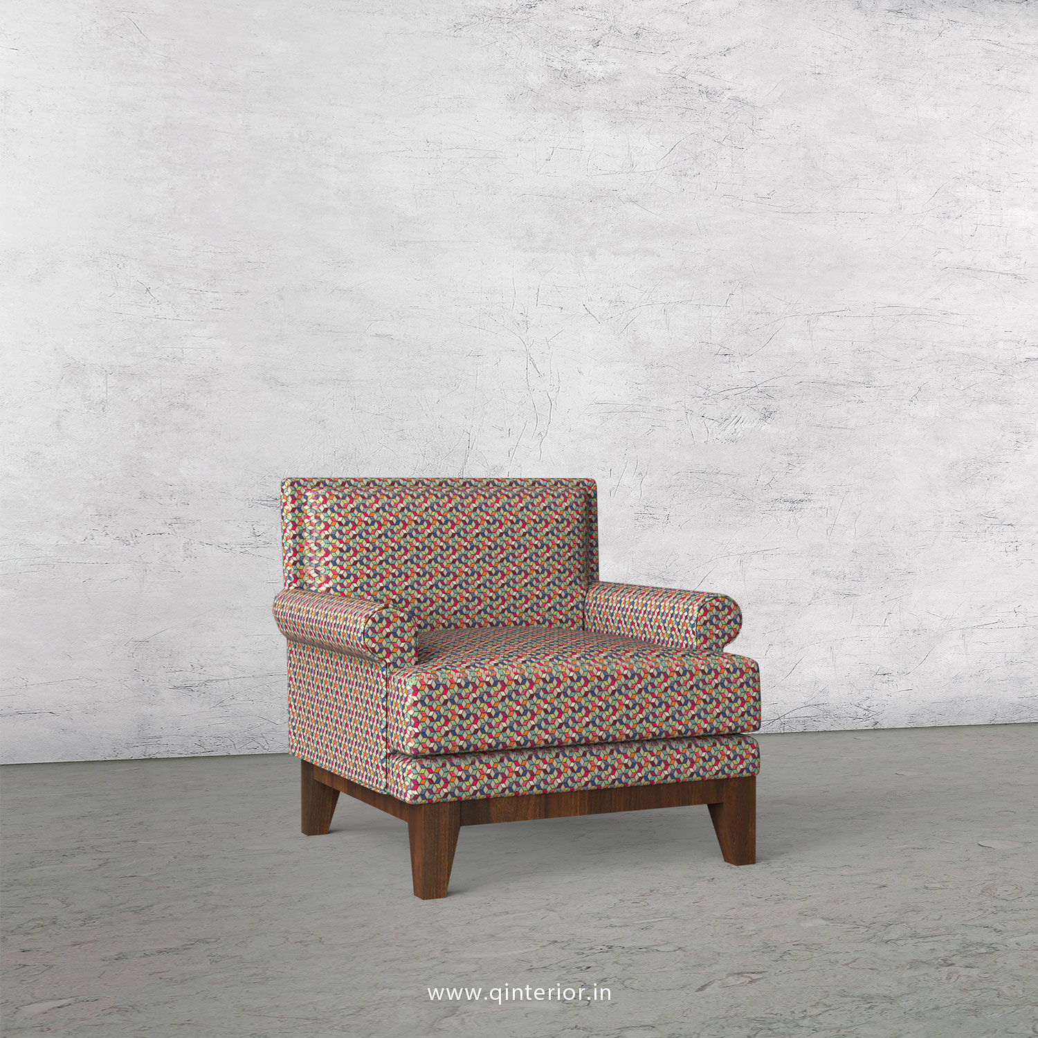 Aviana 1 Seater Sofa in Bargello Fabric - SFA001 BG09