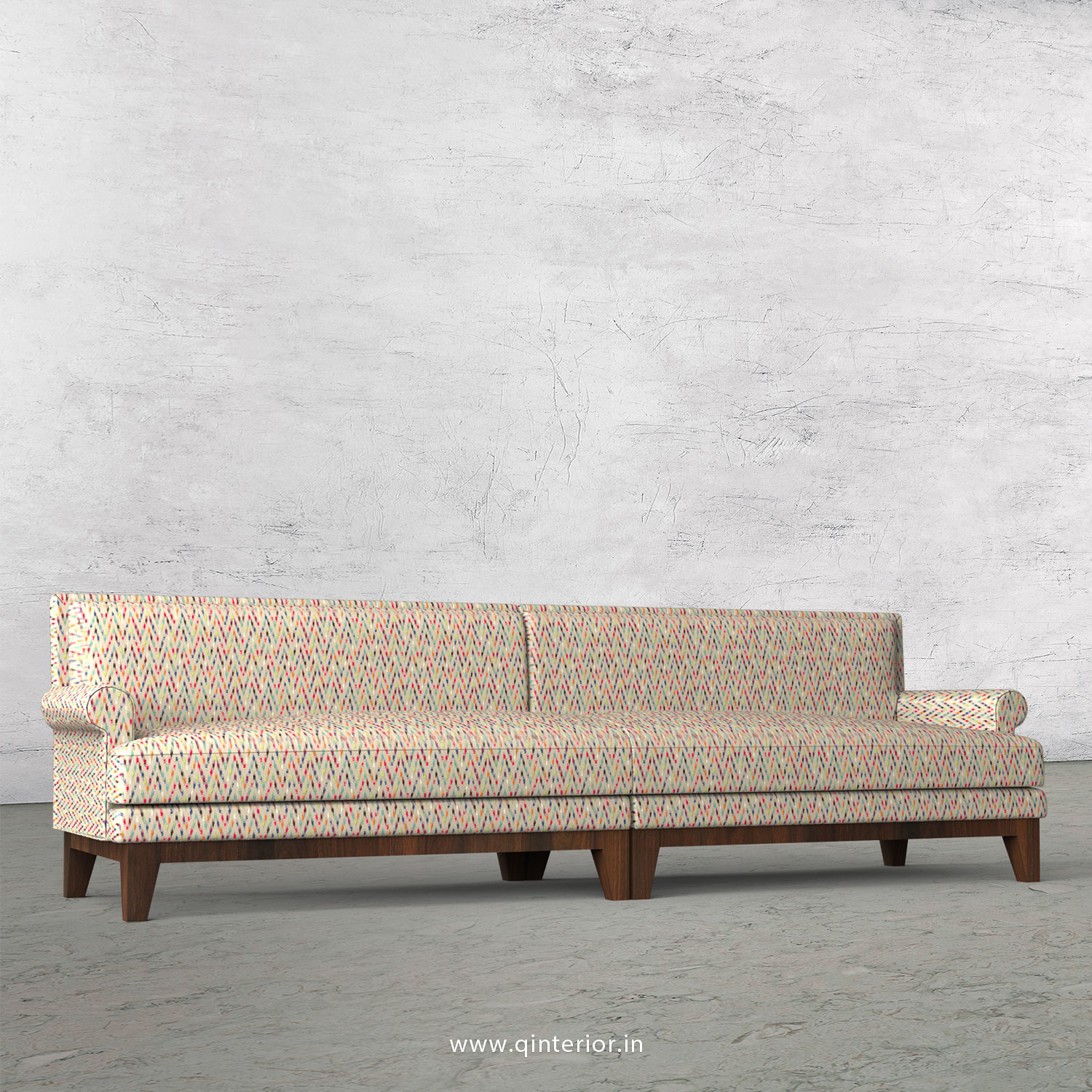 Aviana 4 Seater Sofa in Bargello Fabric - SFA001 BG10