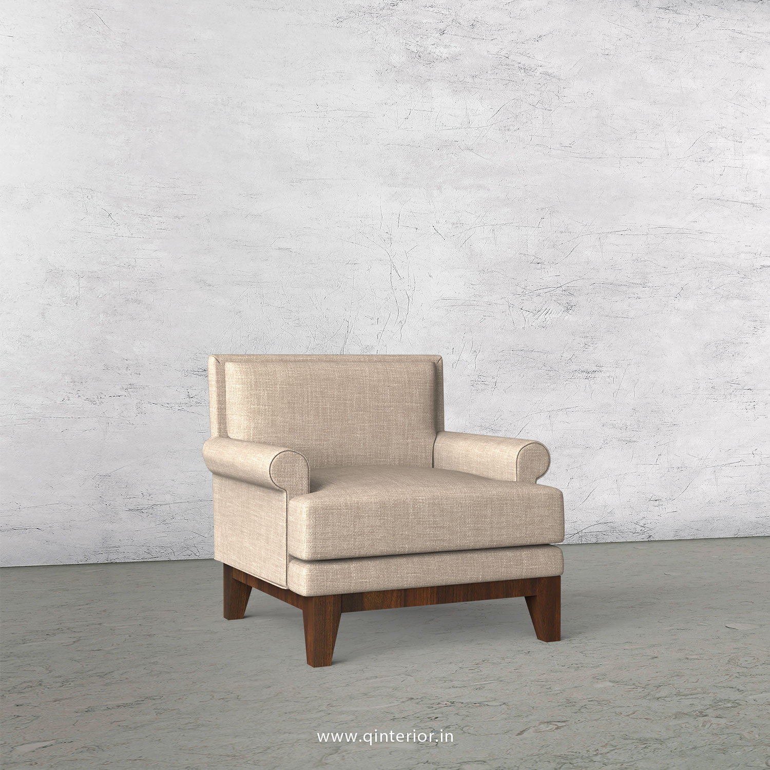 Aviana 1 Seater Sofa in Cotton Plain - SFA001 CP02