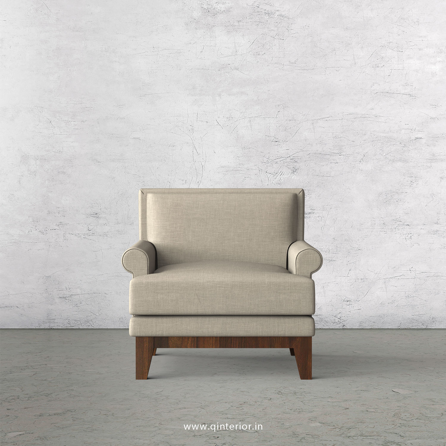 Aviana 1 Seater Sofa in Cotton Plain - SFA001 CP12