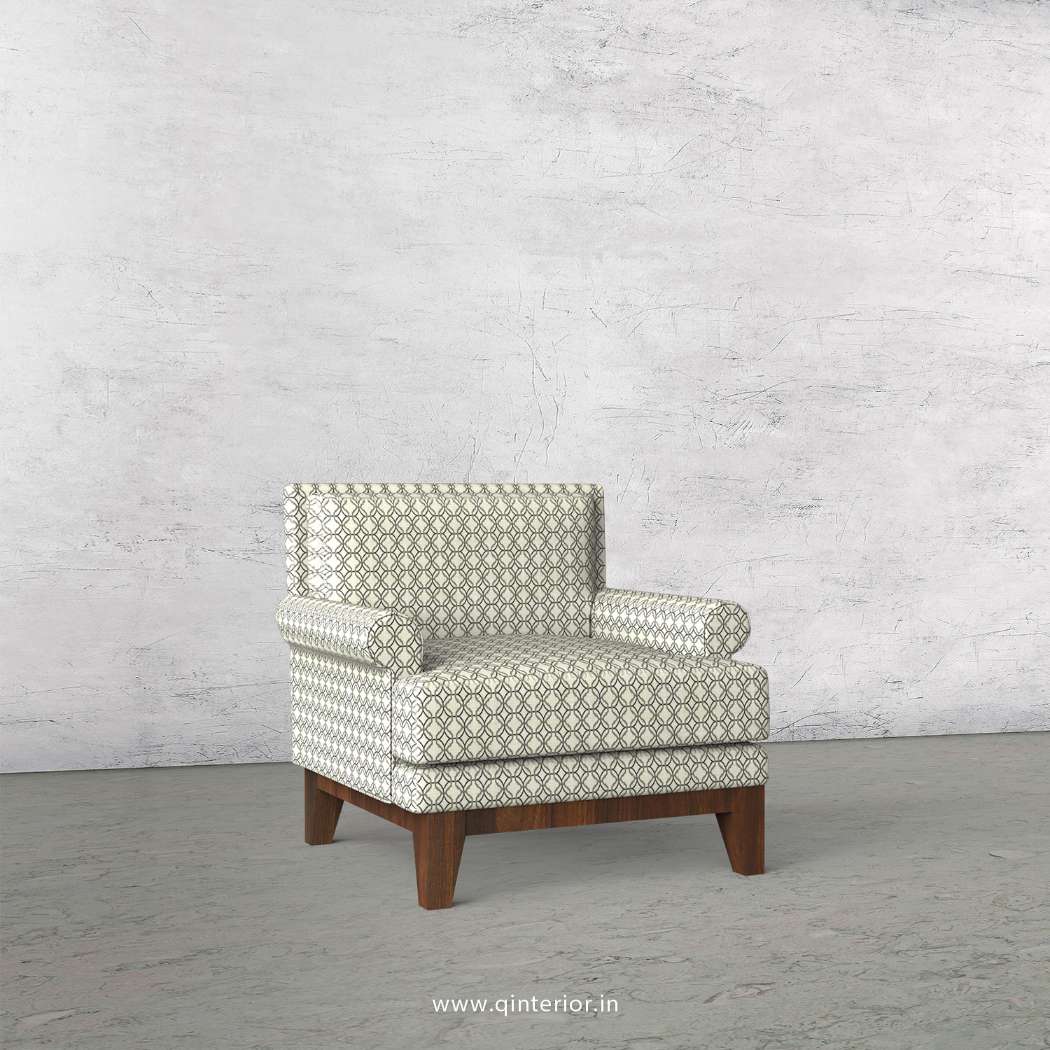 Aviana 1 Seater Sofa in Jacquard - SFA001 JQ03