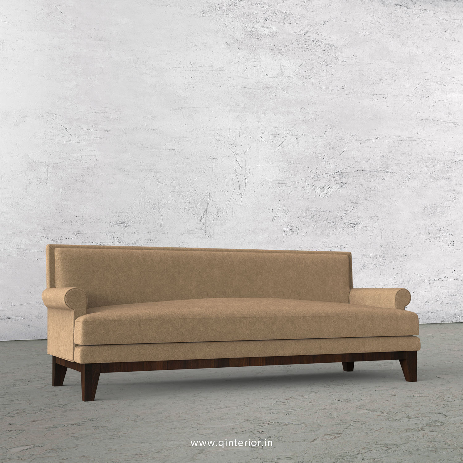 Aviana 3 Seater Sofa in Velvet Fabric - SFA001 VL03
