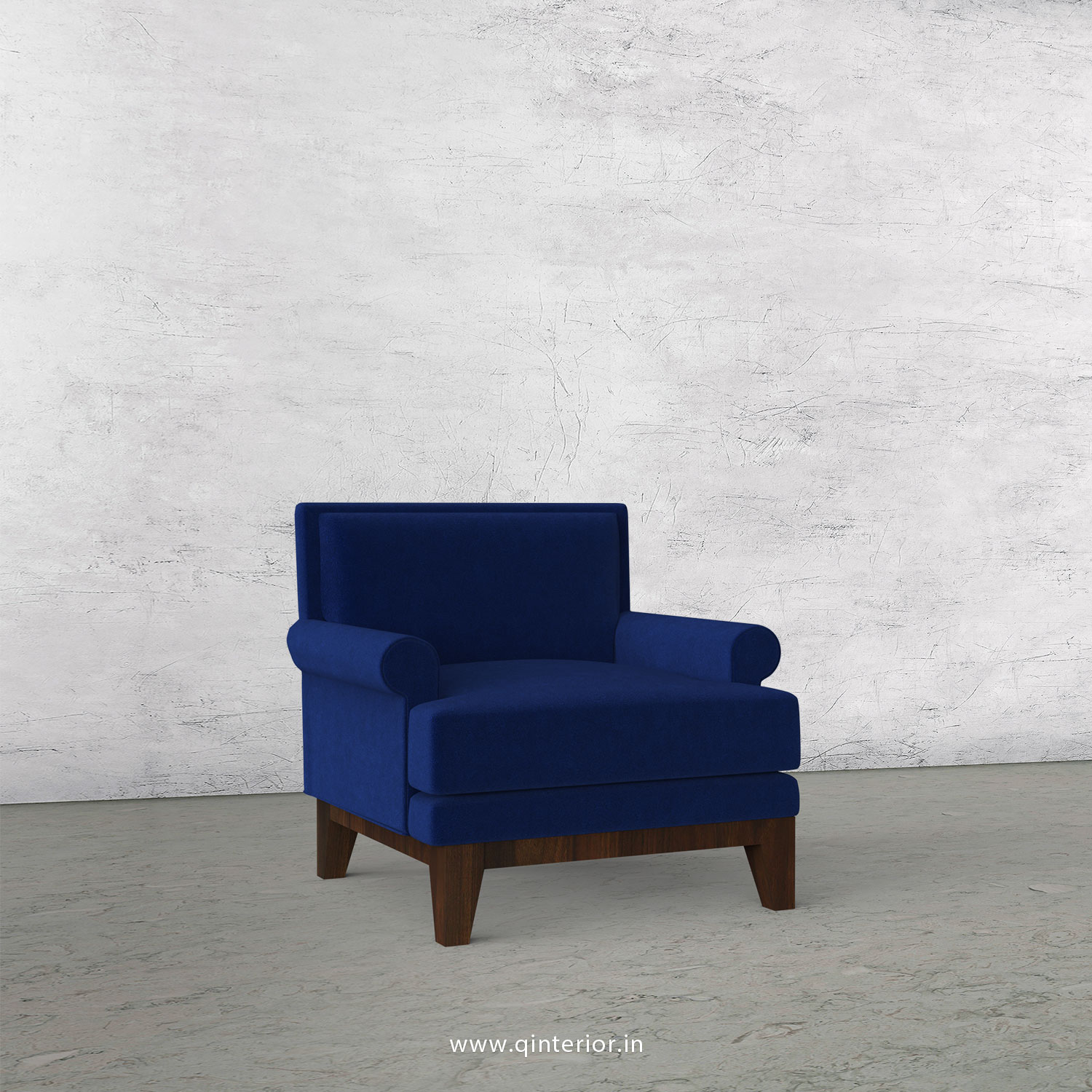Aviana 1 Seater Sofa in Velvet Fabric - SFA001 VL05