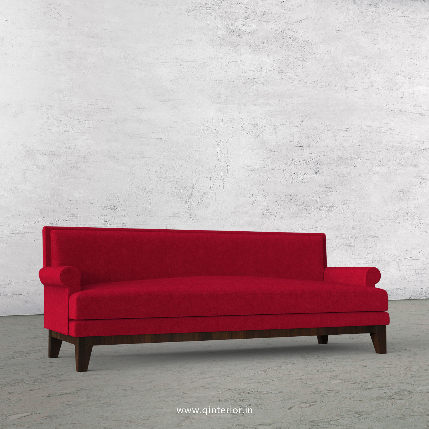 Aviana 3 Seater Sofa in Velvet Fabric - SFA001 VL08