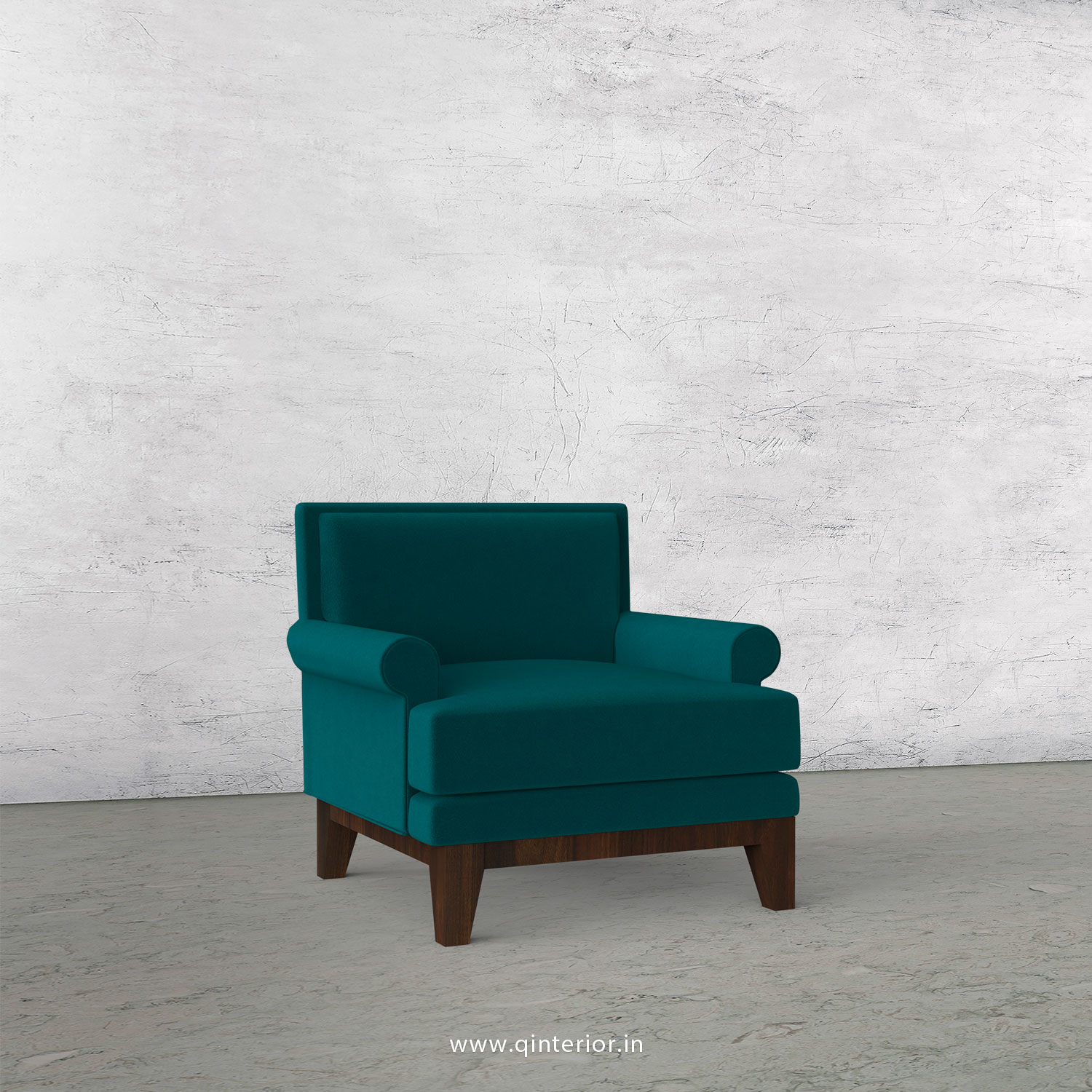 Aviana 1 Seater Sofa in Velvet Fabric - SFA001 VL13