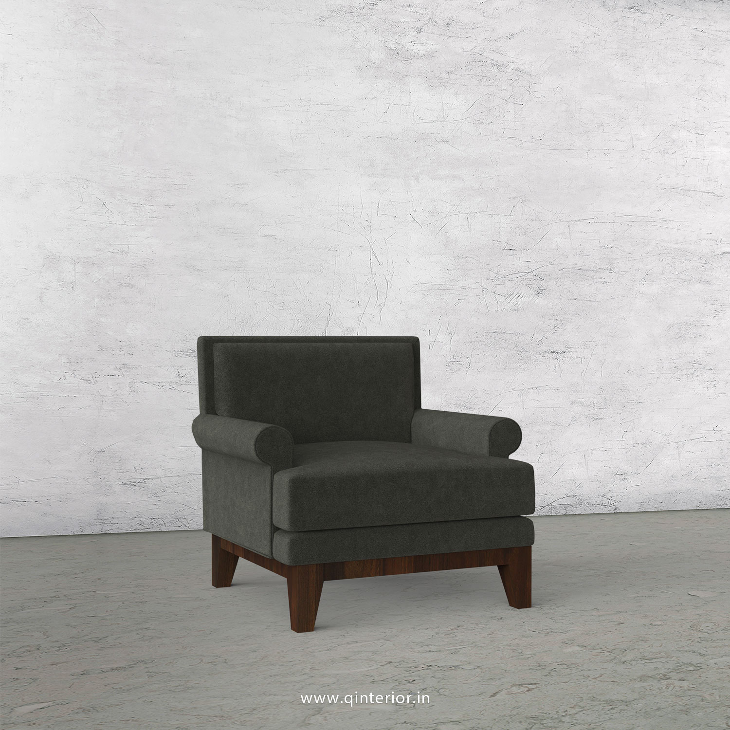 Aviana 1 Seater Sofa in Velvet Fabric - SFA001 VL15