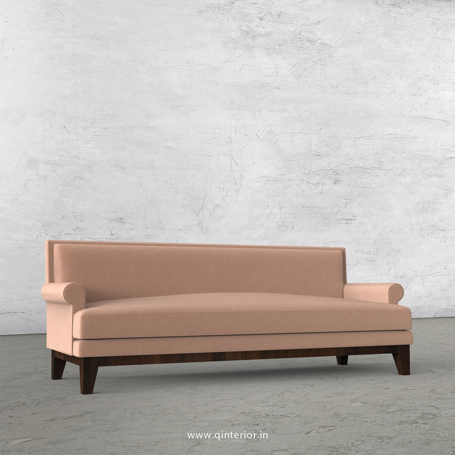 Aviana 3 Seater Sofa in Velvet Fabric - SFA001 VL16