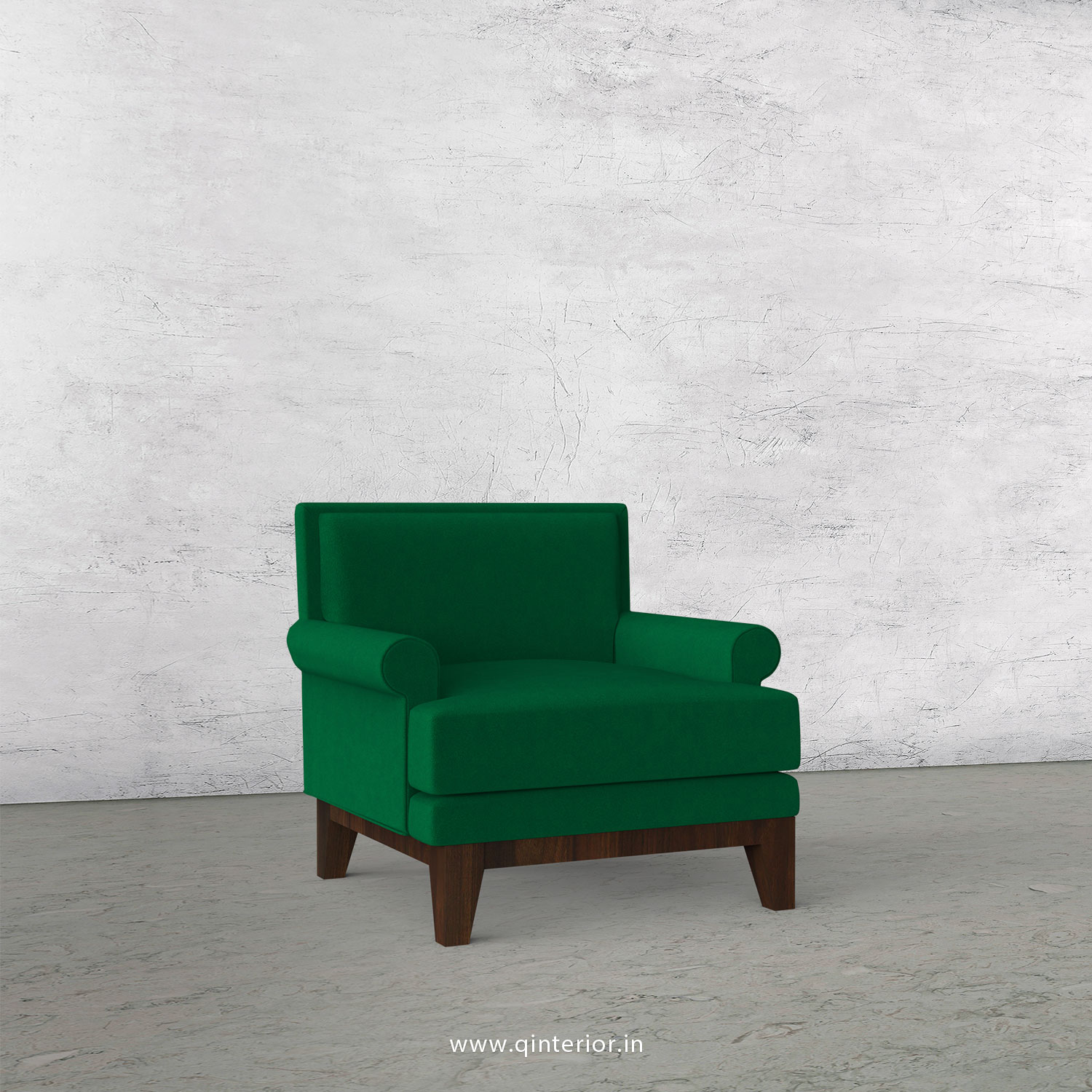 Aviana 1 Seater Sofa in Velvet Fabric - SFA001 VL17