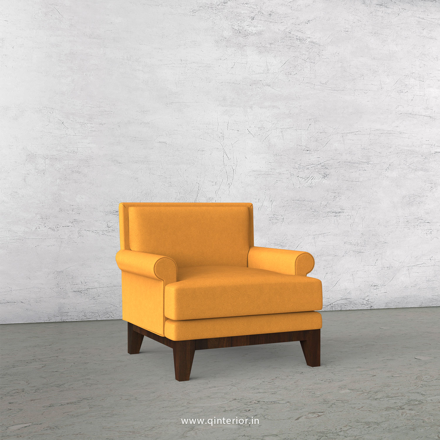 Aviana 1 Seater Sofa in Velvet Fabric - SFA001 VL18