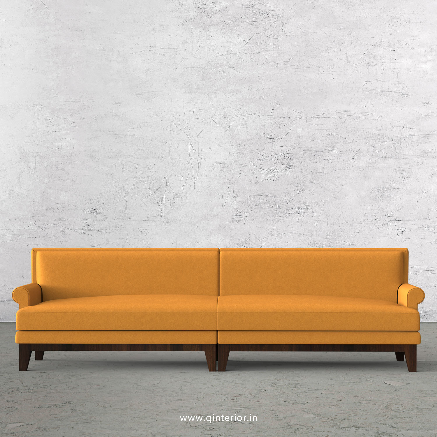 Aviana 4 Seater Sofa in Velvet Fabric - SFA001 VL18