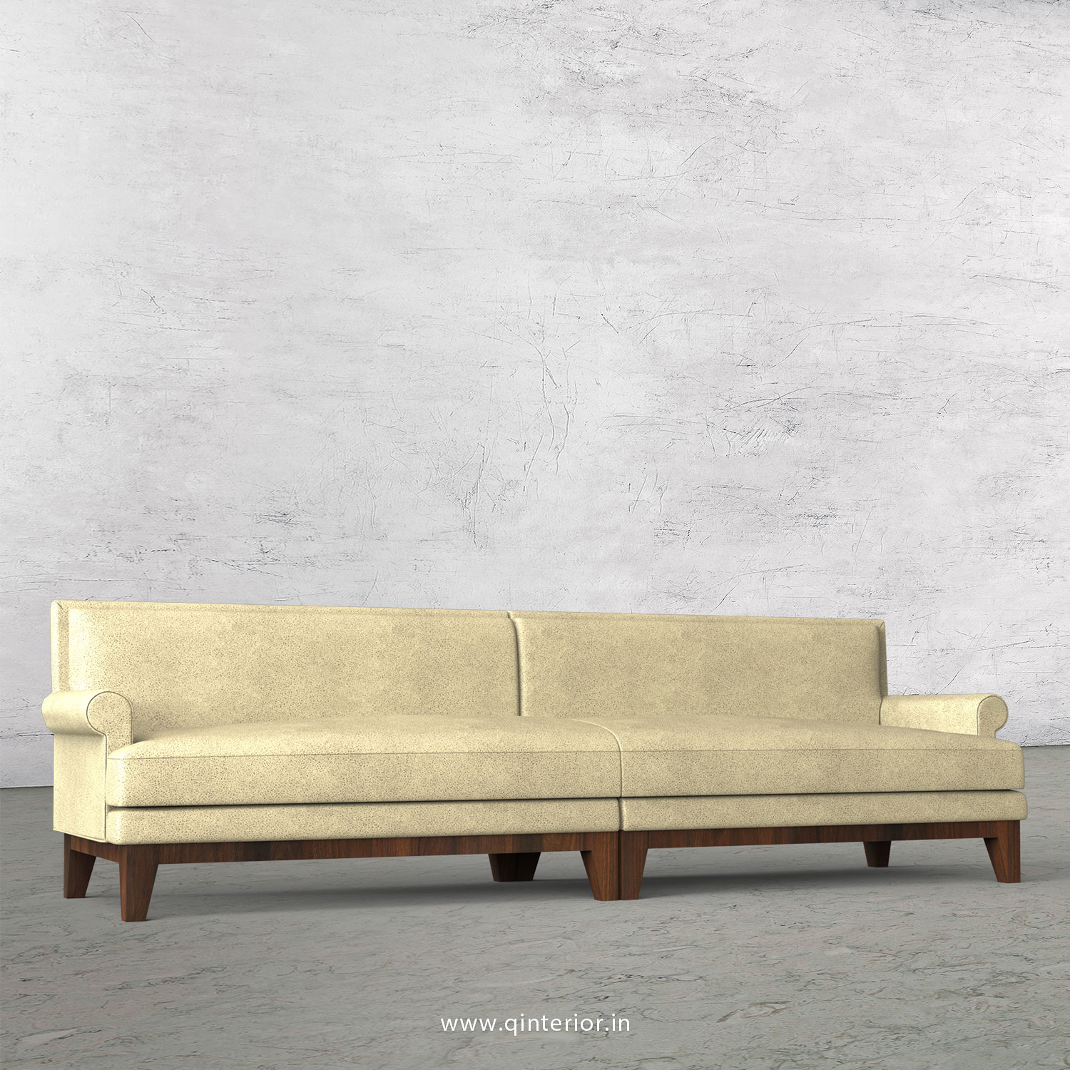 Aviana 4 Seater Sofa in Fab Leather Fabric - SFA001 FL10