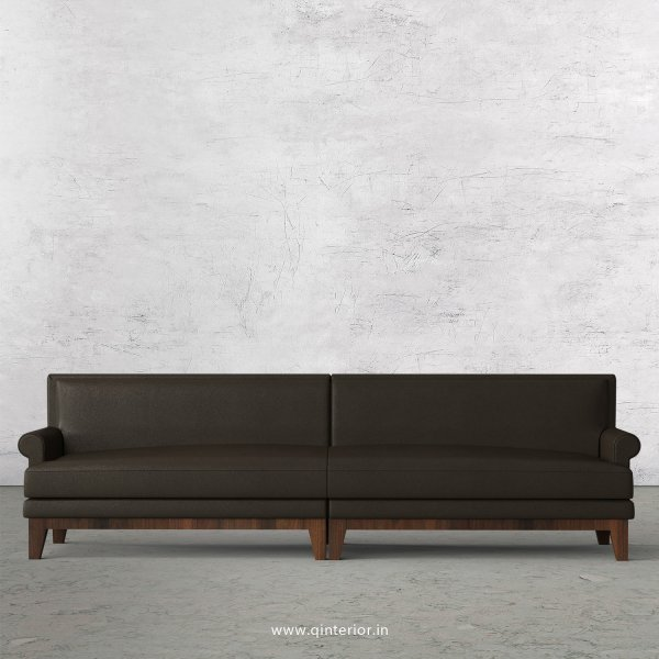 Aviana 4 Seater Sofa in Fab Leather Fabric - SFA001 FL11
