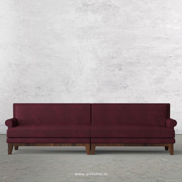 Aviana 4 Seater Sofa in Fab Leather Fabric - SFA001 FL12