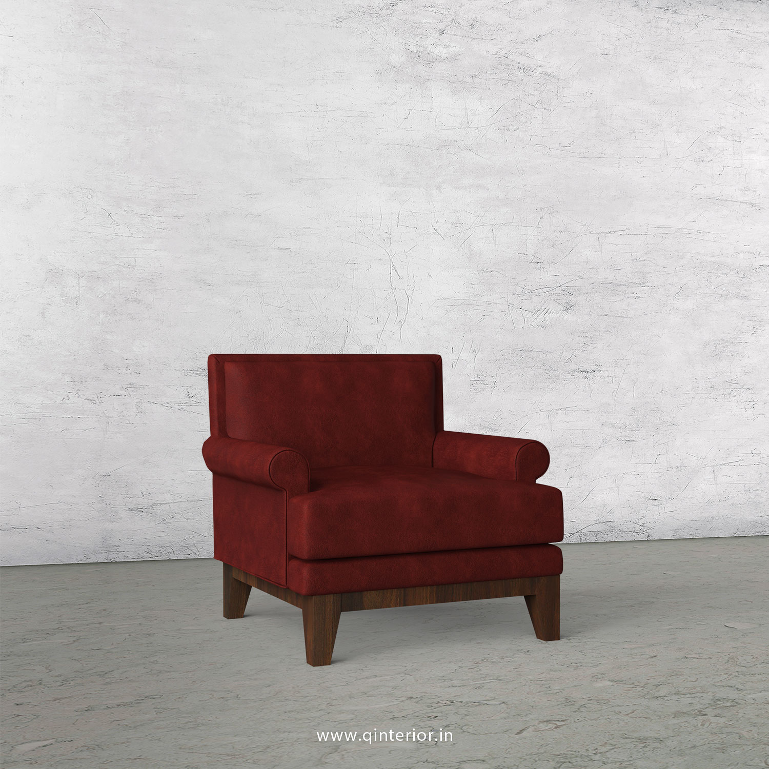 Aviana 1 Seater Sofa in Fab Leather Fabric - SFA001 FL17