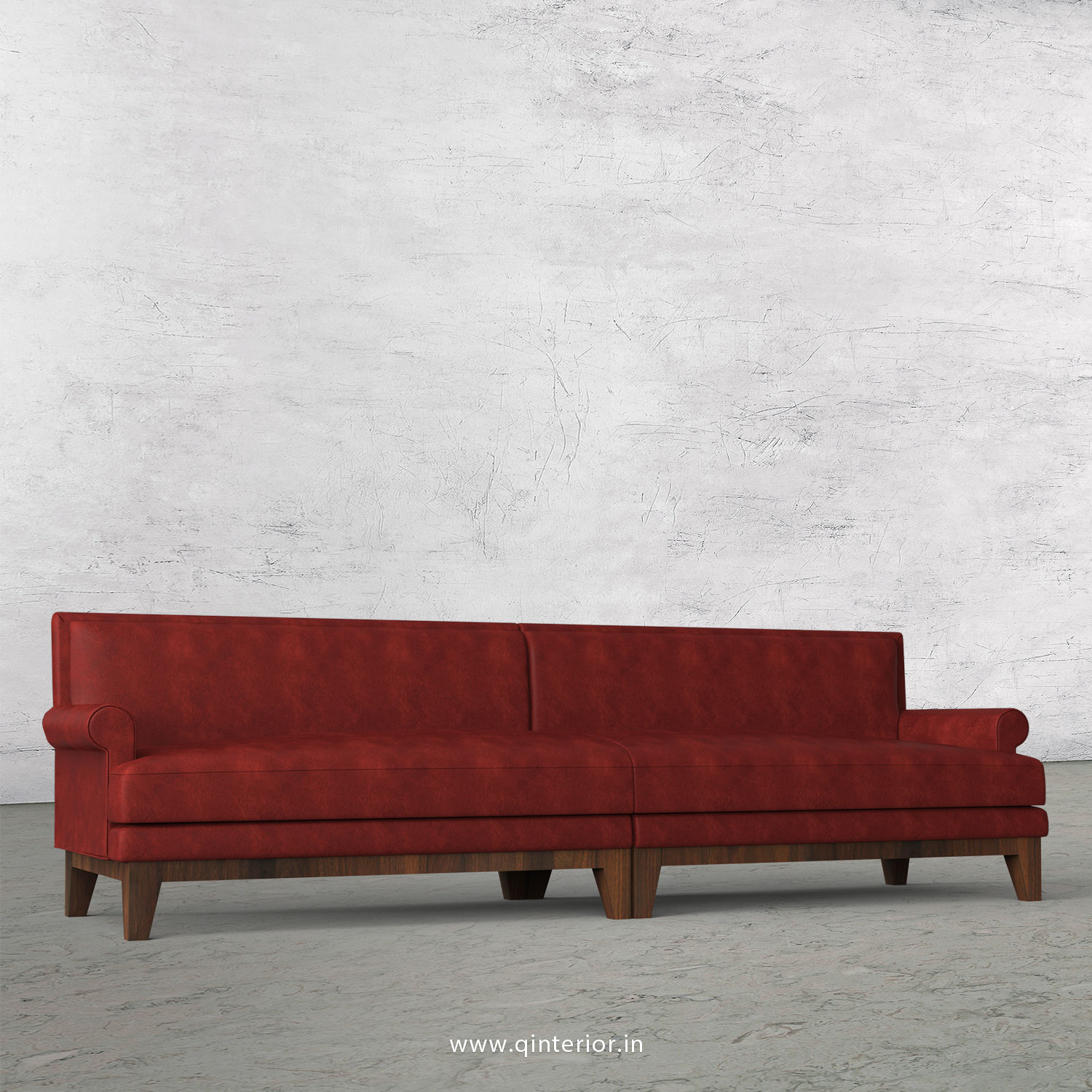 Aviana 4 Seater Sofa in Fab Leather Fabric - SFA001 FL17