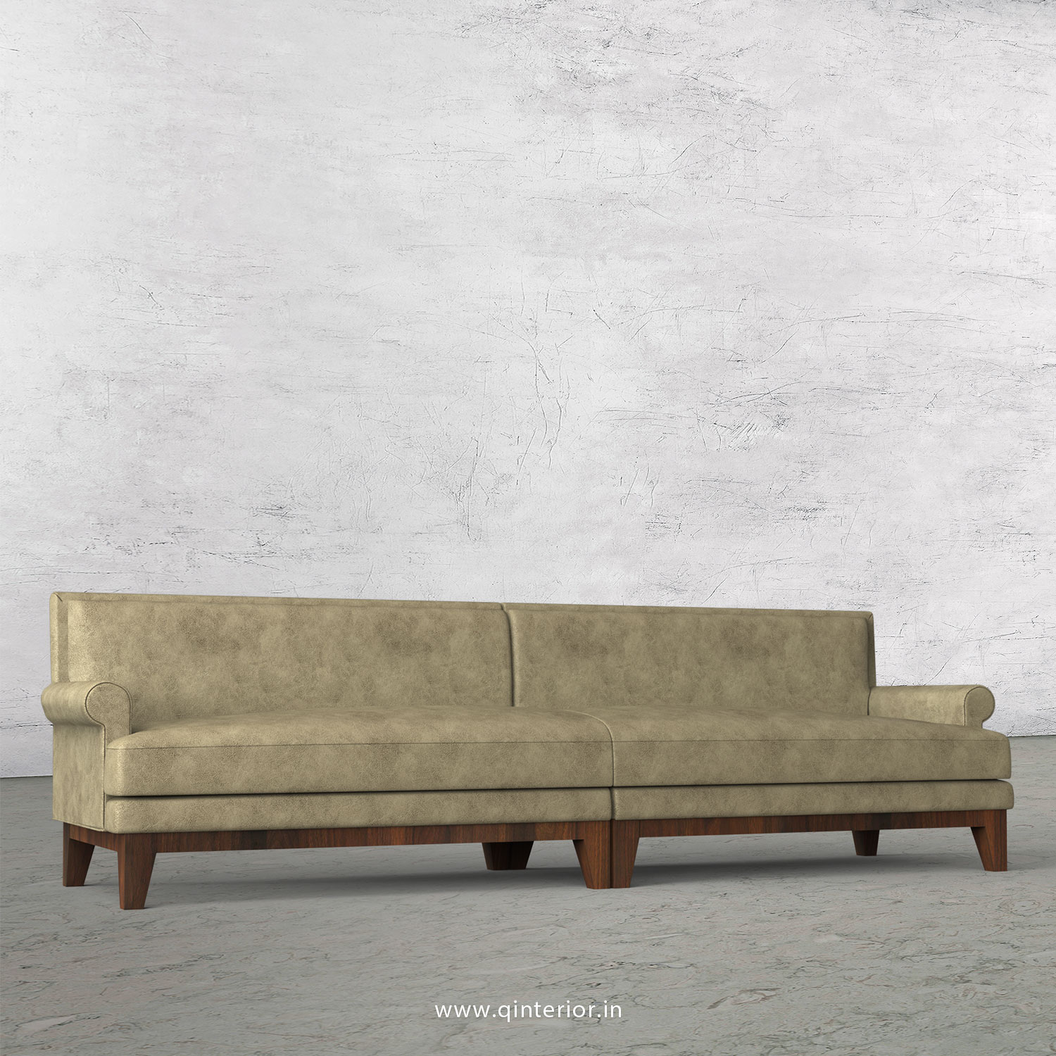 Aviana 4 Seater Sofa in Fab Leather Fabric - SFA001 FL03