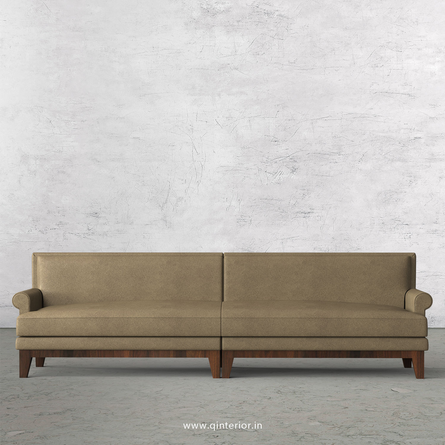 Aviana 4 Seater Sofa in Fab Leather Fabric - SFA001 FL06