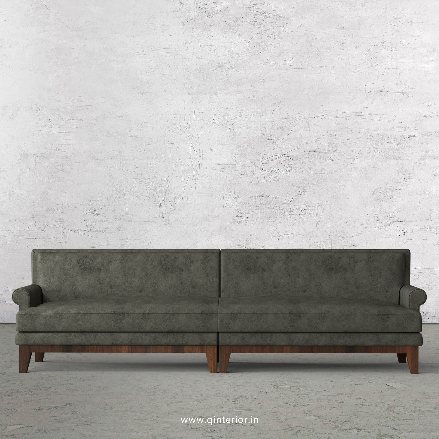 Aviana 4 Seater Sofa in Fab Leather Fabric - SFA001 FL07
