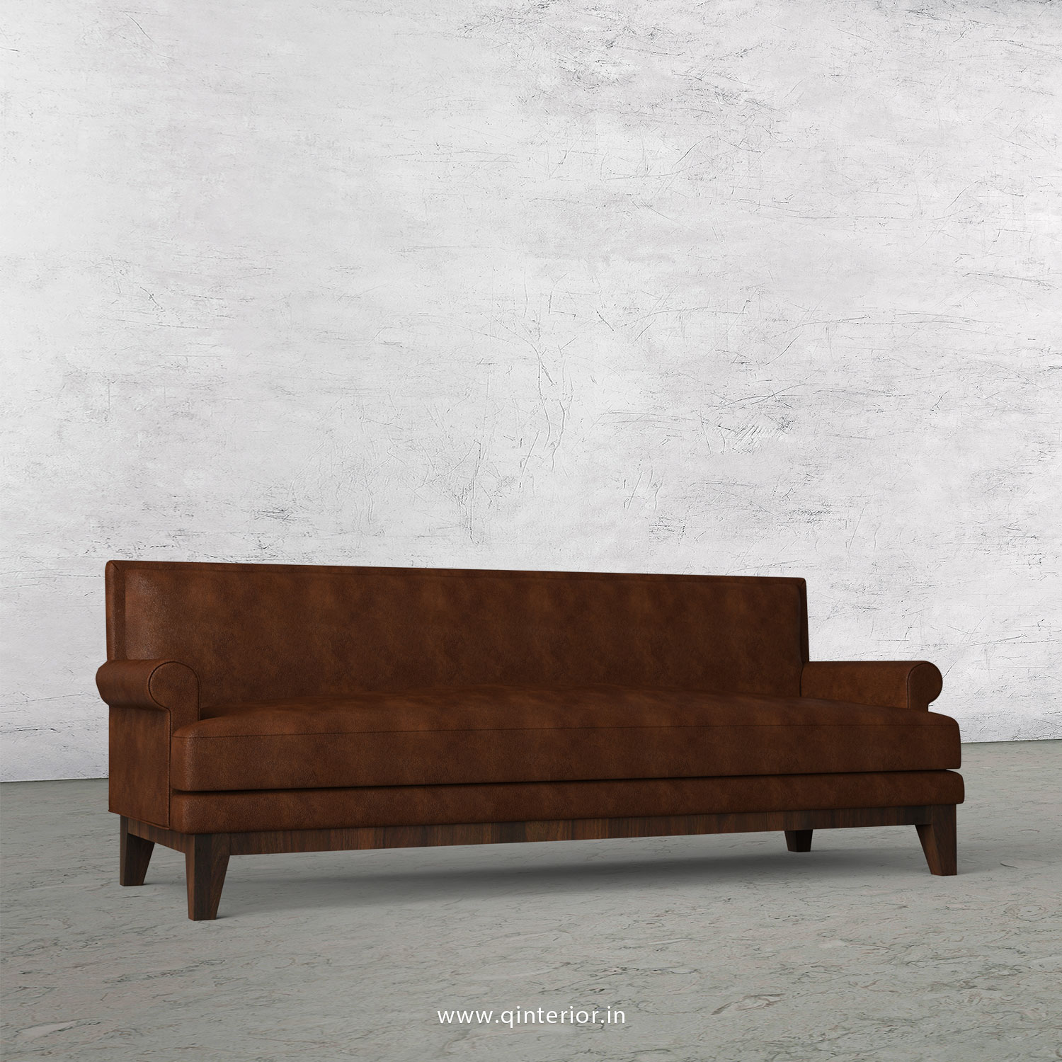 Aviana 3 Seater Sofa in Fab Leather Fabric - SFA001 FL09