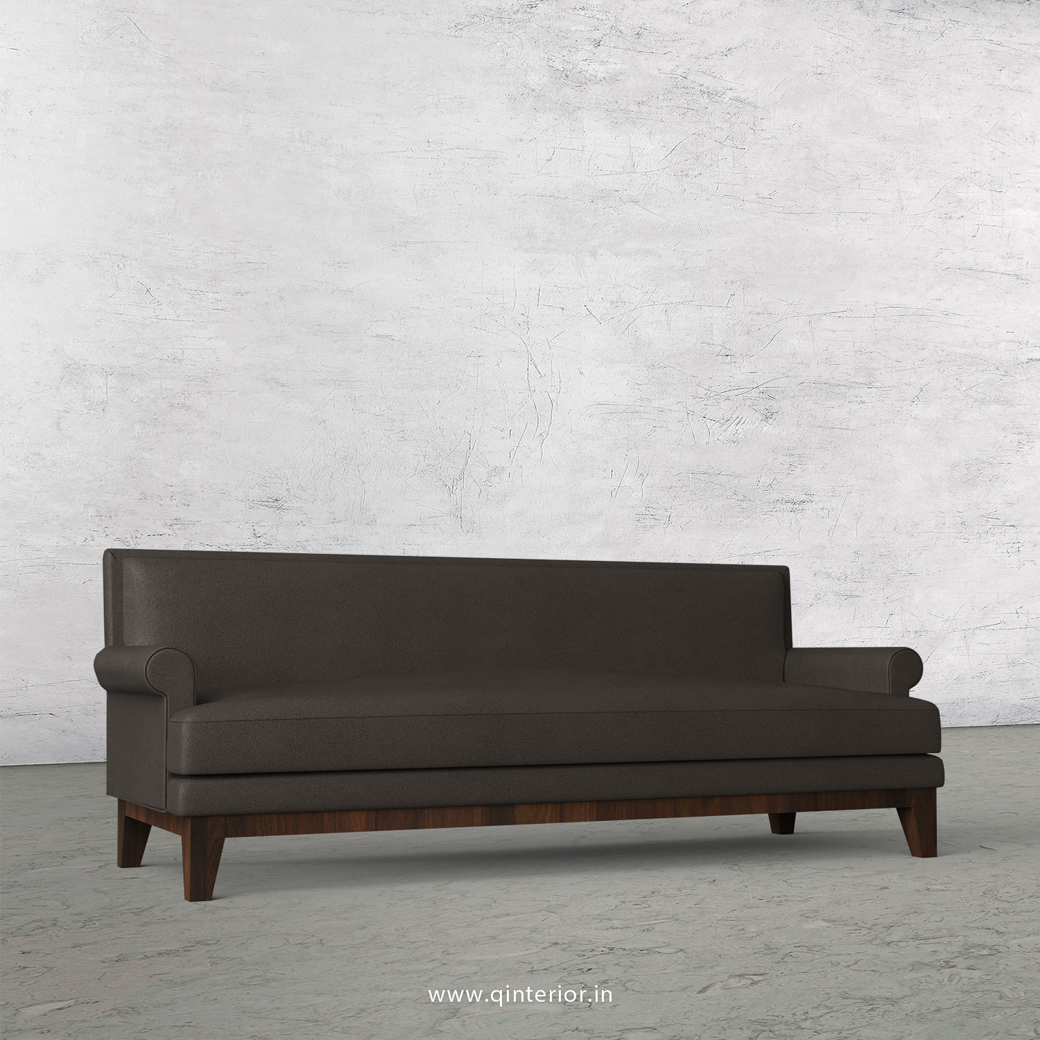 Aviana 3 Seater Sofa in Fab Leather Fabric - SFA001 FL15