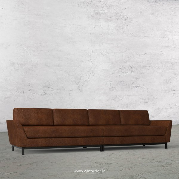 Blitz 4 Seater Sofa in Fab Leather Fabric - SFA002 FL09