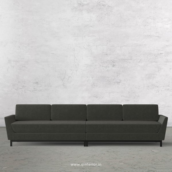 Blitz 4 Seater Sofa in Velvet Fabric - SFA002 VL07