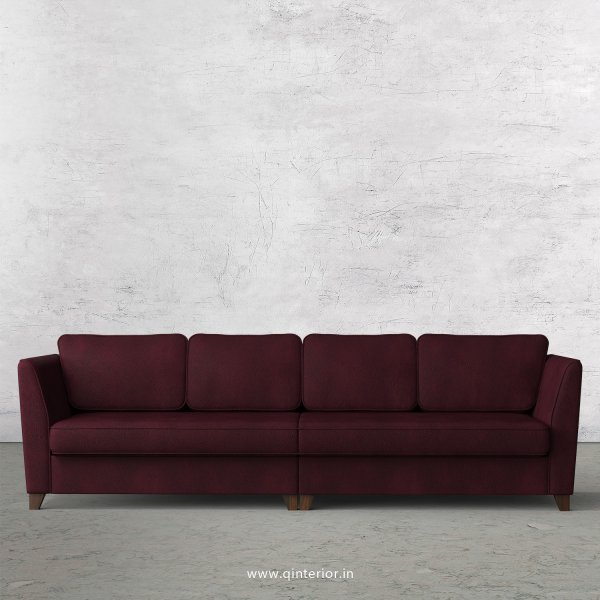 Kingstone 4 Seater Sofa in Fab Leather Fabric - SFA004 FL12