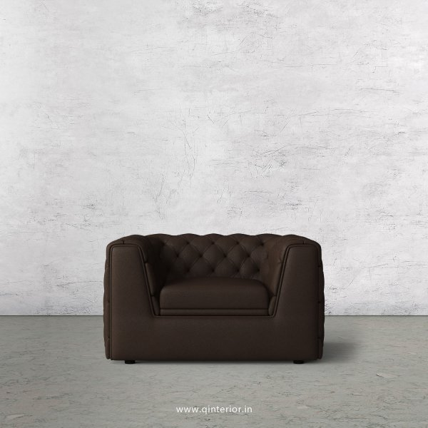 ERGO 1 Seater Sofa in Fab Leather Fabric - SFA009 FL16