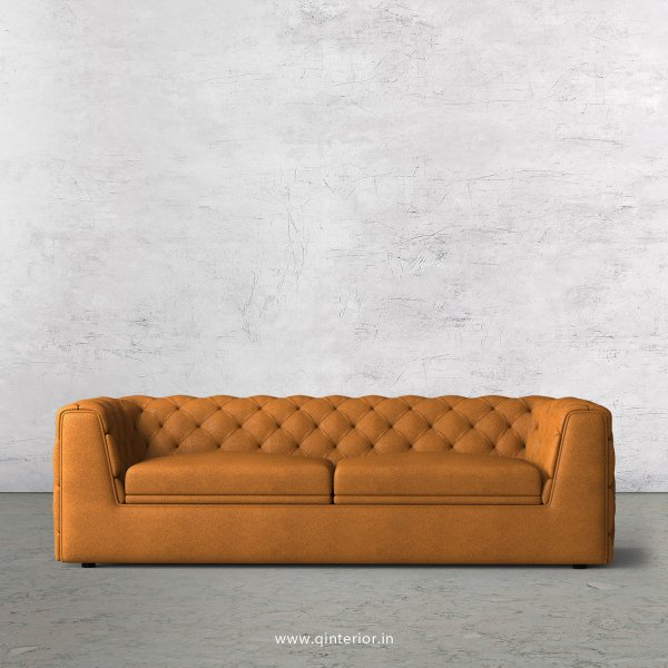 ERGO 3 Seater Sofa in Fab Leather Fabric - SFA009 FL14