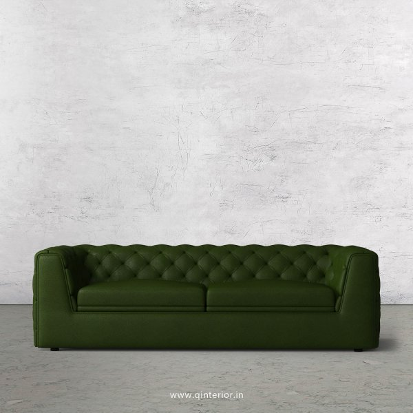 ERGO 3 Seater Sofa in Fab Leather Fabric - SFA009 FL04