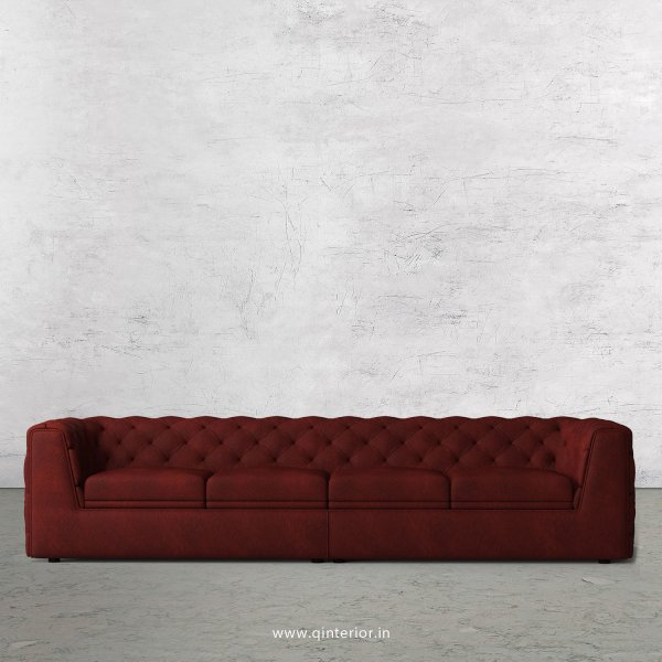 ERGO 4 Seater Sofa in Fab Leather Fabric - SFA009 FL08