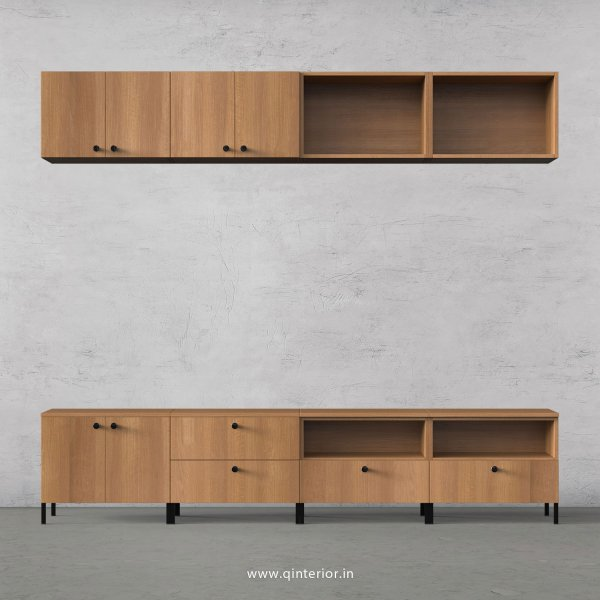 Stable TV Floor Unit in Oak Finish – TVU017 C2