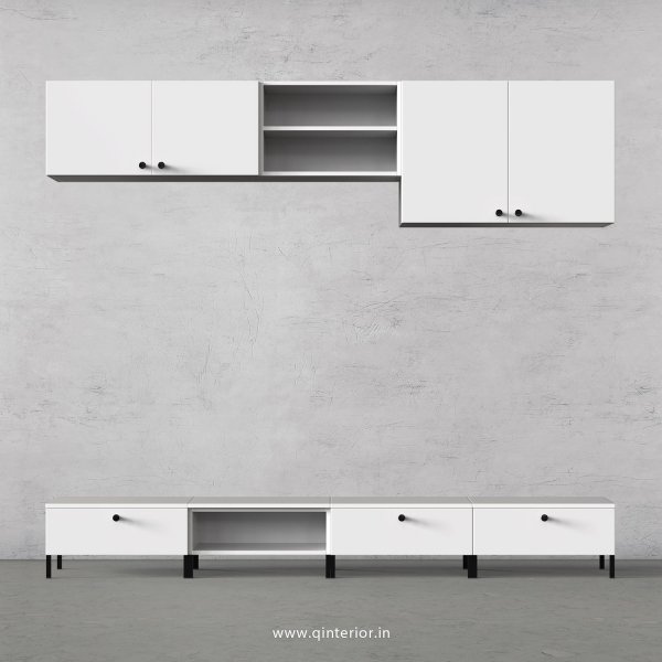 Stable TV Floor Unit in White Finish – TVU014 C4