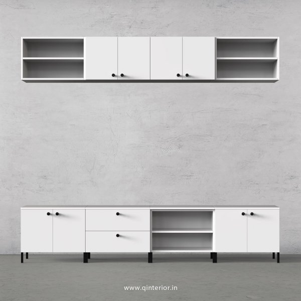 Stable TV Floor Unit in White Finish – TVU016 C4