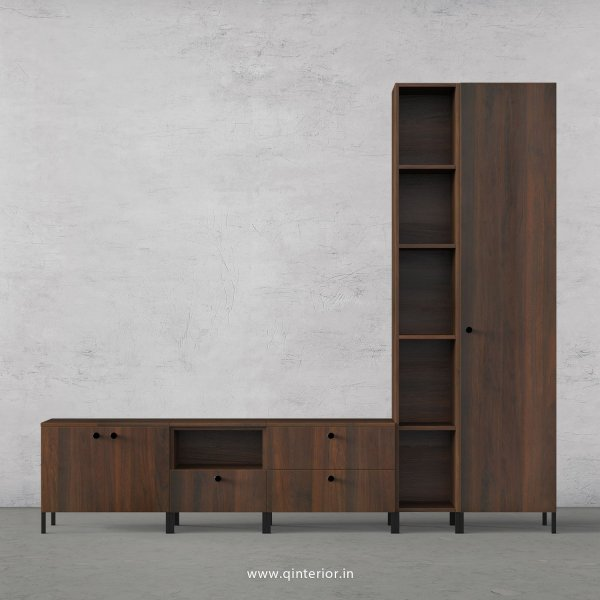 Stable TV Floor Unit in Walnut Finish – TVU018 C1