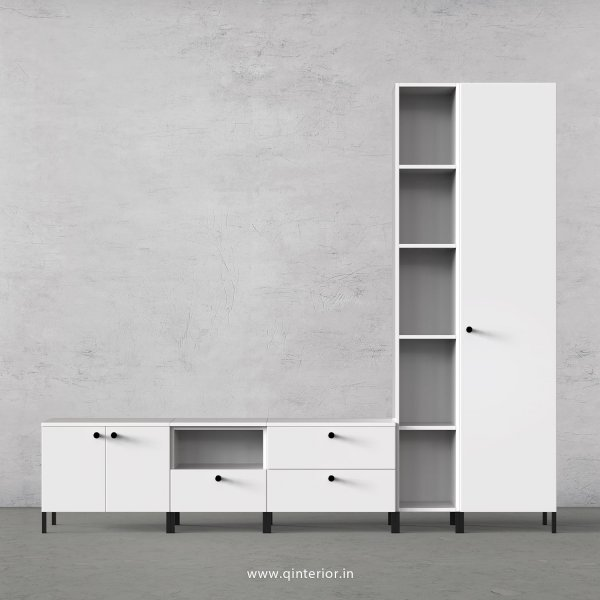 Stable TV Floor Unit in White Finish – TVU018 C4