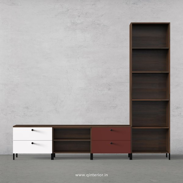 Motley TV Floor Unit in Walnut and Multi Color Finish – TVU019 C53