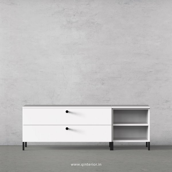 Stable TV Floor Unit in White Finish – TVU005 C4