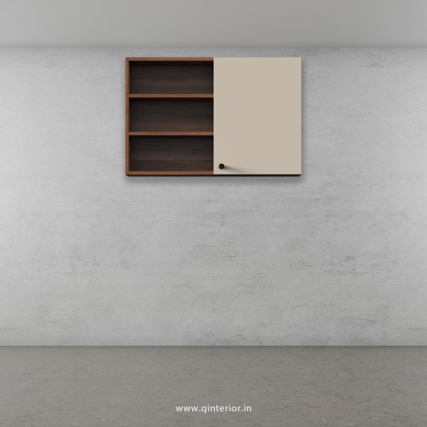 Lambent Wall Cabinet in Teak and Irish Cream Finish - WC007 C11