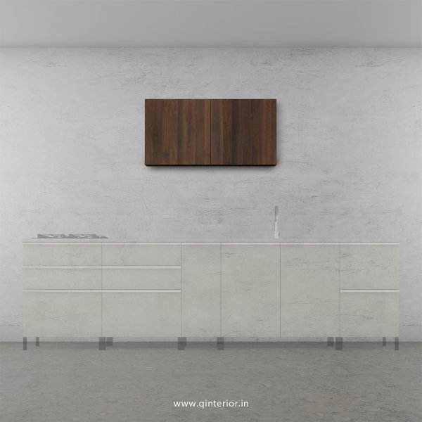 Stable Kitchen Wall Cabinet in Walnut Finish - KWC005 C1