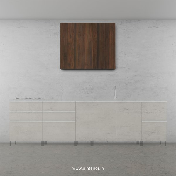 Stable Kitchen Wall Cabinet in Walnut Finish - KWC007 C1