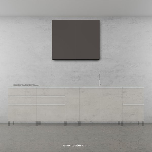 Lambent Kitchen Wall Cabinet in Teak and Slate Finish - KWC007 C15