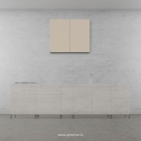 Lambent Kitchen Wall Cabinet in White and Irish Cream Finish - KWC007 C11