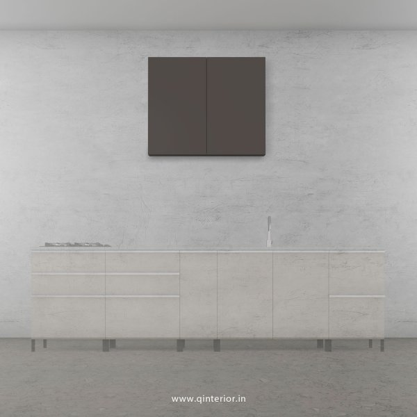 Lambent Kitchen Wall Cabinet in White and Slate Finish - KWC007 C16