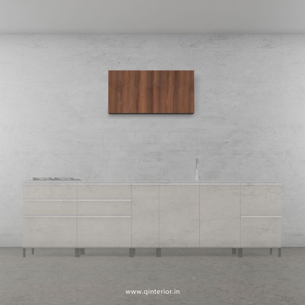 Lambent Kitchen Wall Cabinet in White and Teak Finish - KWC005 C9