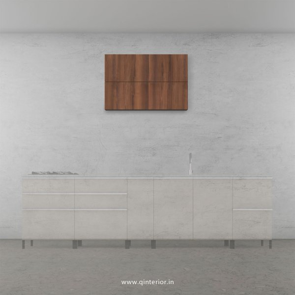 Lambent Kitchen Wall Cabinet in White and Teak Finish - KWC009 C9